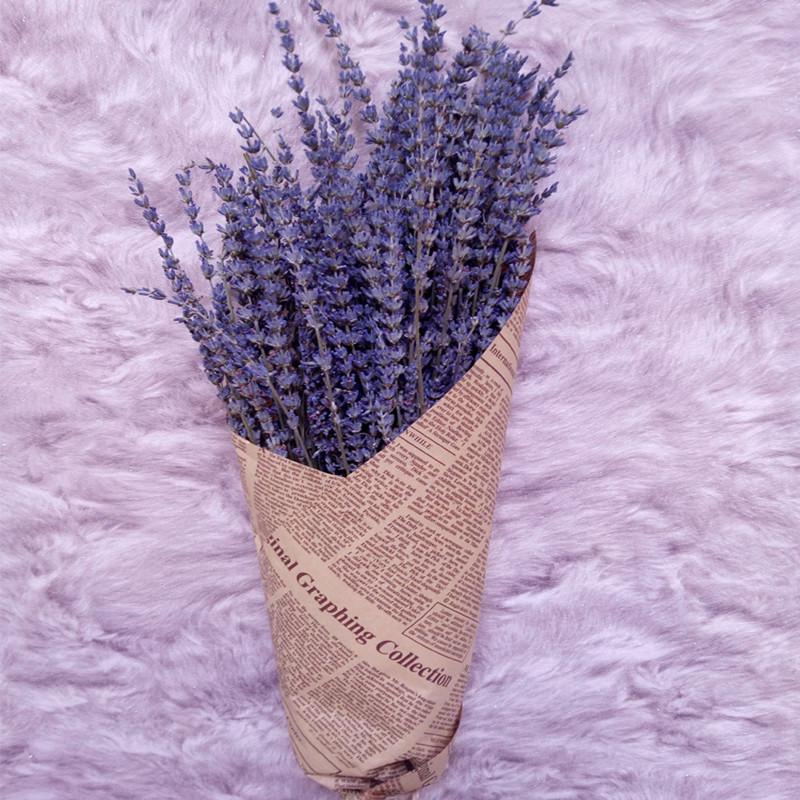 200pcs Long Ear UK Blue Lavender Natural Dried Flowers Bouquet Lavanda Flores Decorative Flower Arrangements Free shipping(China (Mainland))
