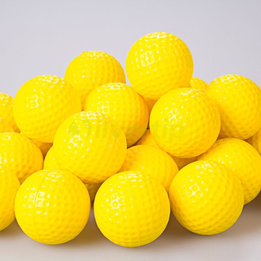 Free Shipping New 30pcs / pack Yellow PU Foam Golf Balls Sponge Elastic Indoor Outdoor Practice Training(China (Mainland))