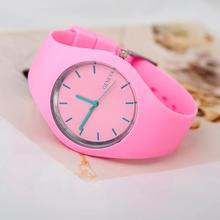 2015 New Famous Brand Geneva Mint Green Color Jelly Quartz Watch Women Dress Silicone Watches Sports Relogio Feminino Clock(China (Mainland))