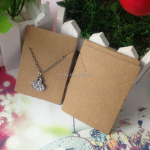 necklaces card kraft cardboard accept custom order Customize your own logo need add extra cost MOQ:1000pcs jewelry sets(China (Mainland))