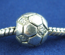 Buy DoreenBeads 15PCs antique silver Football&Soccer Beads Fit European Charm 11x10mm 2015 new for $1.93 in AliExpress store