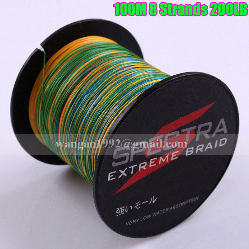 Wholesale pe braided fishing line 100m 8 strands multi for Best braided fishing line saltwater