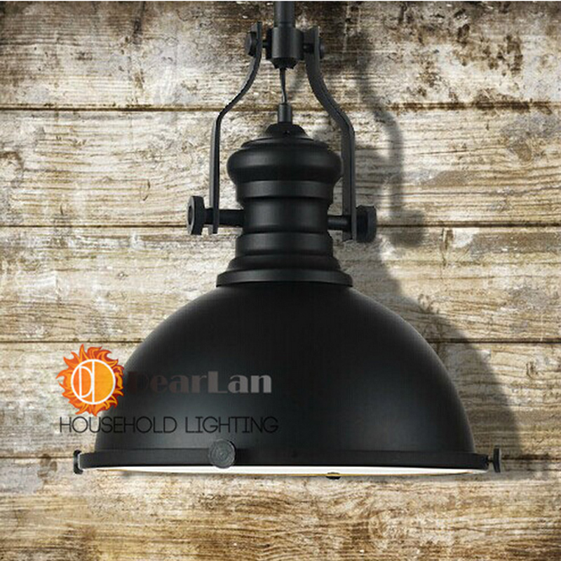 (Diameter 32cm *H 35cm)American Vintage Loft Chain Pendant Light Industry Style Lamp,Black Fashional Pendant Lamp For Home Decor(China (Mainland))