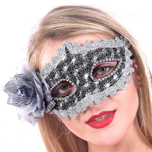 Halloween party Flower Venetian Mask Half Face for Women Mask Masquerade supplies carnival mask(China (Mainland))