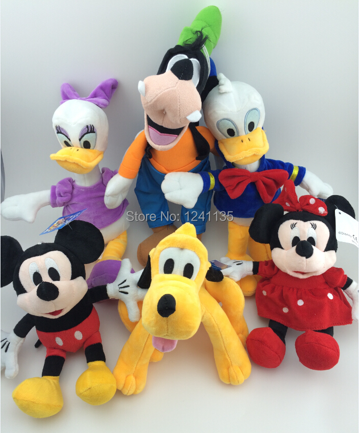 6pcs/set Mickey And Minnie Mouse Plush Toy,Donald Duck And Daisy,GOOFy Dog,Pluto Dog,Toys for Children Plush Toys Christmas Gift(China (Mainland))