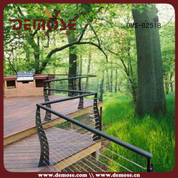 outdoor wrought iron stair handrail with