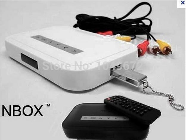 NBOX RMVB RM MP3 AVI MPEG Divx HDD TV USB SD Card Media Player Remote flash player(China (Mainland))