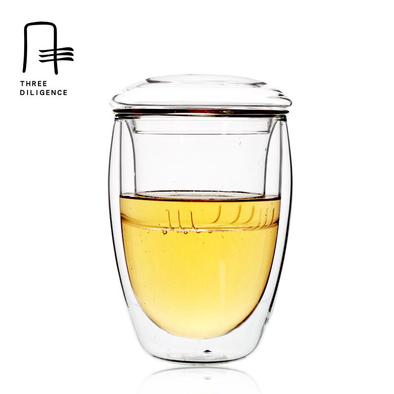 Online kopen wholesale dubbele glas thee cup uit china dubbele glas thee cup groothandel - Kantoor transparant glas ...