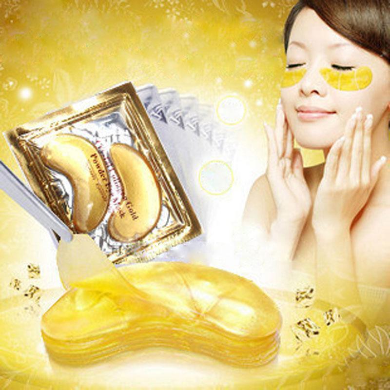 20pcs=10packs High Quality Gold Crystal Eye Masks Collagen Eye Mask Hotsale Eye Patches Anti Wrinkle Mask(China (Mainland))