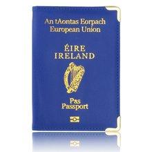 Ierland Paspoort Leer Case Voor Passport Bescherming Case Leuke Vrouwen Reisdocument Organisator Voor Reizen Portemonnee(China)