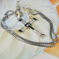 серебро 925 sterlng 100% быстрый и яростный 7 Доминик Торетто крест кулон ожерелье мужчин бесплатно гравировки
