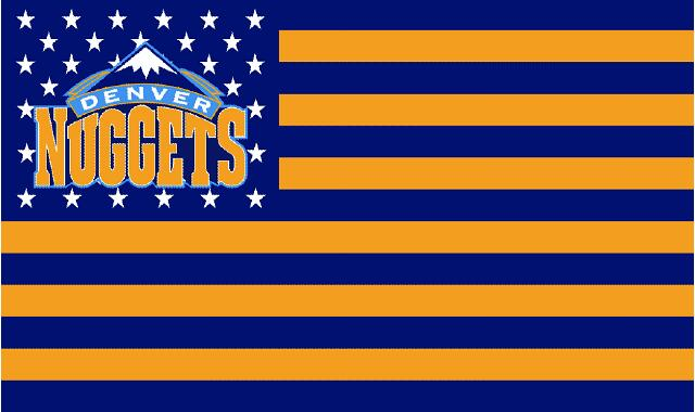 Denver Nuggets logo with US stars and stripes Flag 3FTx5FT Banner 100D Polyester flag 90x150cm(China (Mainland))
