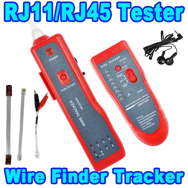 Telephone Network Phone RJ45 RJ11 Cable Wire Tracker Phone Generator Tester Diagnose Tone Networking Tools(China (Mainland))