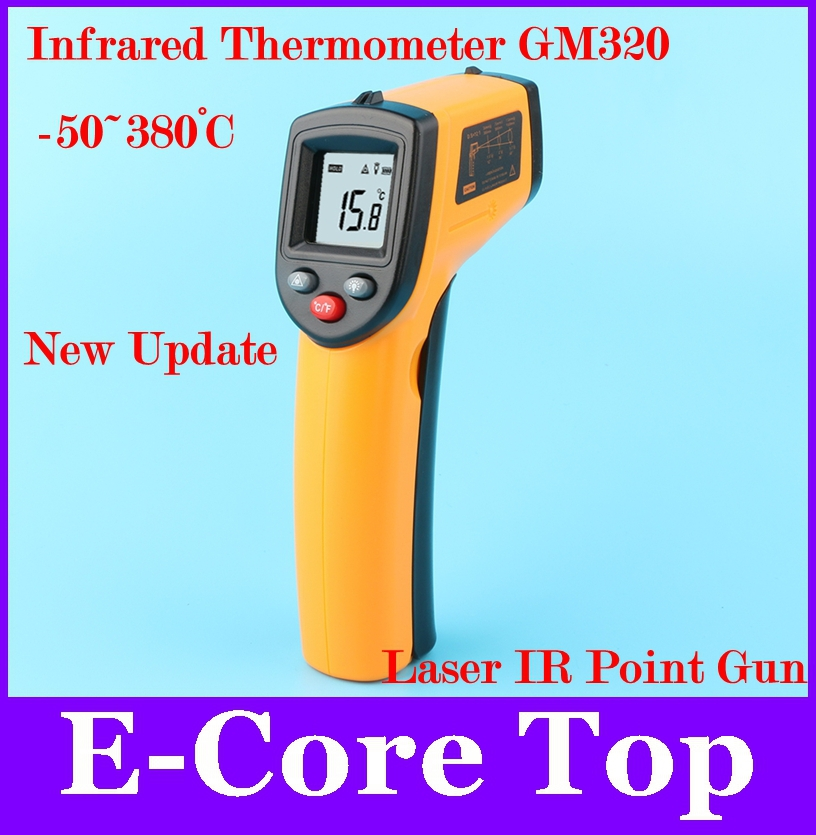 Wholesale Non-Contact Digital GM320 -50~380 Degree Industrial&Household Use Pyrometer IR LCD Displays Temperature Reading(China (Mainland))