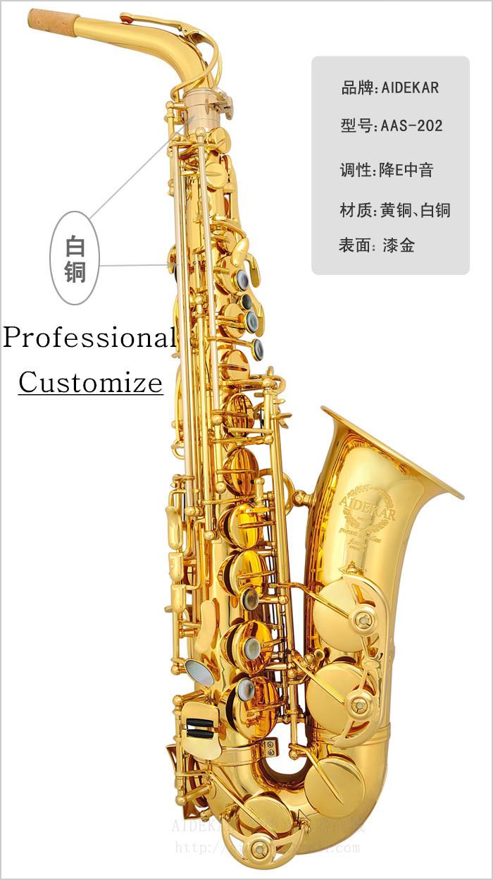 Здесь можно купить  Aas-202 e alto saxophone tube brass  Спорт и развлечения