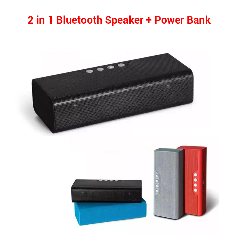 Outdoor sports 4000mAh Portable Wireless Stereo Bluetooth Speaker 10W with Power bank TF Super Bass Sound Box Boombox Subwoofer(China (Mainland))