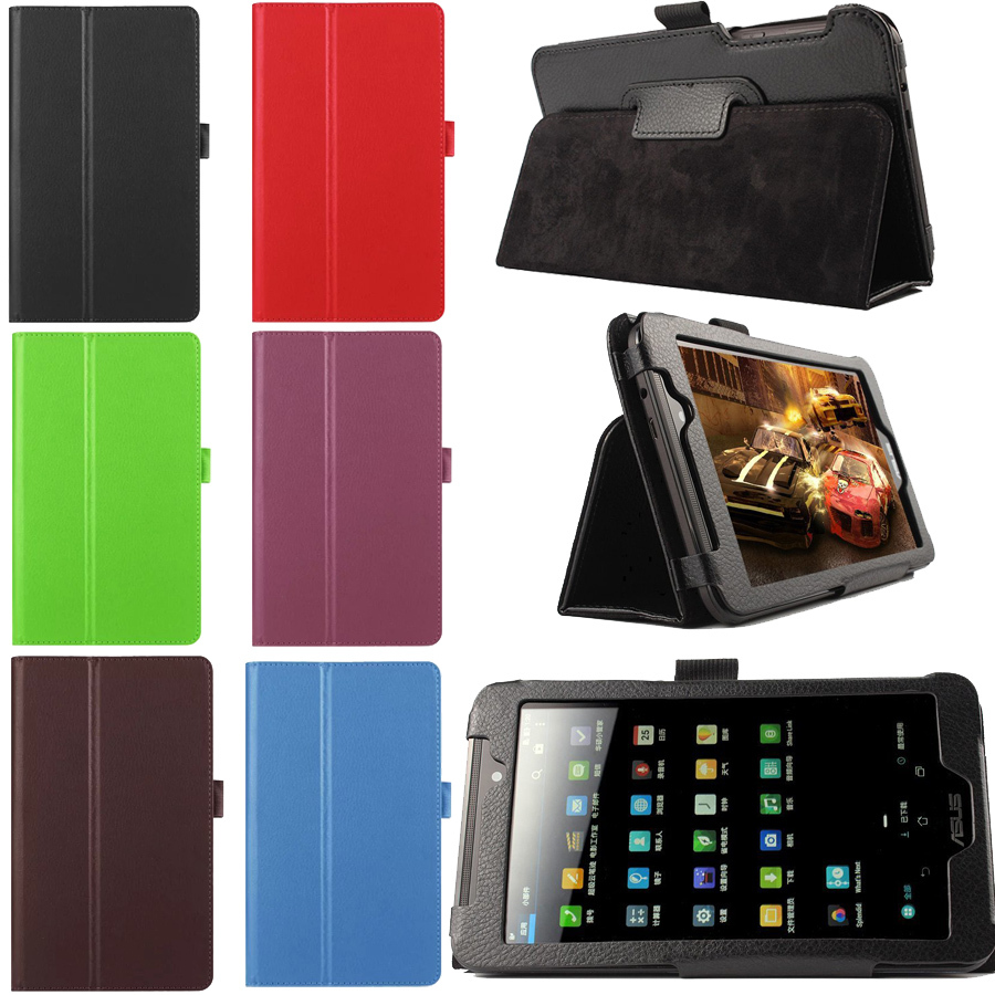 Гаджет  For Asus FonePad 7 FE170 FE170CG 7 inch Multi-color Folio PU Leather Case Stand Cover 7