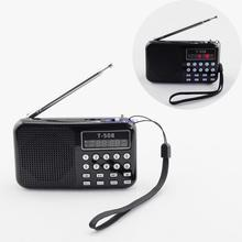 Classic FM Radio receiver MP3 Music Player Speaker Supported USB Disk/TF Card Playing Christmas Gift to Elders Kids