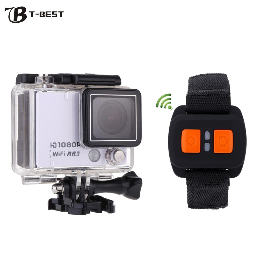 """Clearance Sale AT300 Mini WiFi Action Camera 2.0"""" Screen 30M Waterproof 1080P Video Camcorder DVR with Remote Control Watch(China (Mainland))"""