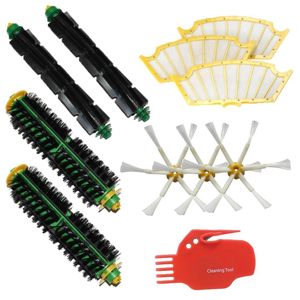 11Pcs/PACK Kit for iRobot Roomba 500 Series Roomba 510 530 535 540 560 570 580 610 all Green, Red, Black cleaning head(China (Mainland))