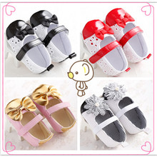 Buy HOT Anti-slip Girls Newborn Infant Toddlers Baby Shiny Bowknot Shoes SZ 0-18M for $5.89 in AliExpress store