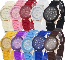Fashion Colorful Children s Silicone Candy Quartz Military Unisex Wristwatch Sports Watch Chirstmas Gifts Drop Shipping