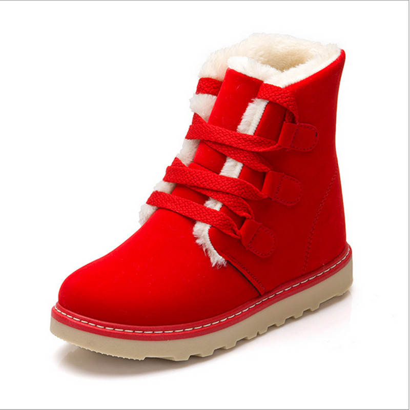 Red Snow Boots Women - Yu Boots