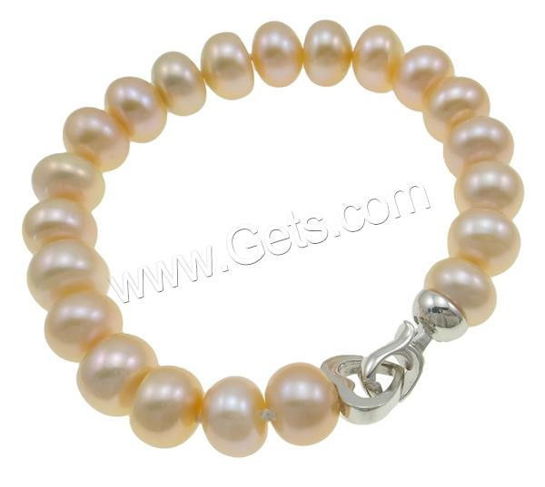 Free shipping!!!Fashion NEW 2015 Womens brass clasp natural pink 9-10mm Length:17.5 cm Girls Cultured Freshwater Pearl Bracelet(China (Mainland))