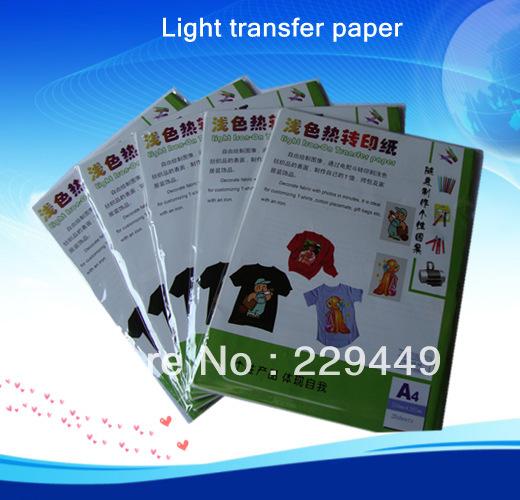 Wholesale Heat Transfers 50pcsxa4 Light Inkjet Heat