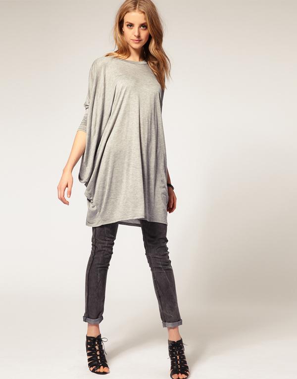 Женские широкий вязальные блузки с битой рукав для бесплатная доставка W4167