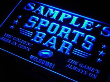 tj-tm Name Personalized Custom Sports Bar Beer Pub Neon Sign