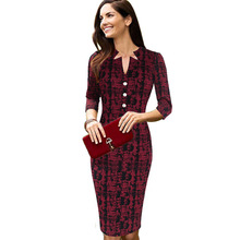 Vfemage Womens Elegant Vintage Retro Plaids Check Print Chic Contrast Button Wear to Work Party Pencil Bodycon Casual Dress 2041(China (Mainland))