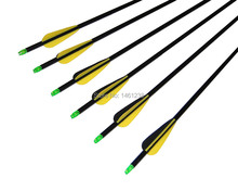 Archery 6pcs fiberglass arrows 6pcs practice arrow tips point Scalability arrow quiver bow and arrow for