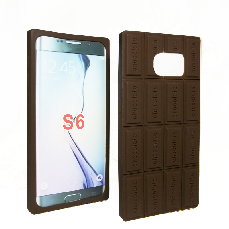 Case Galaxy S6 Silicone 3D chocolate design soft silicon shell G9200 mobile covers Samsung S 6 phone cases  -  peasecod accessories store