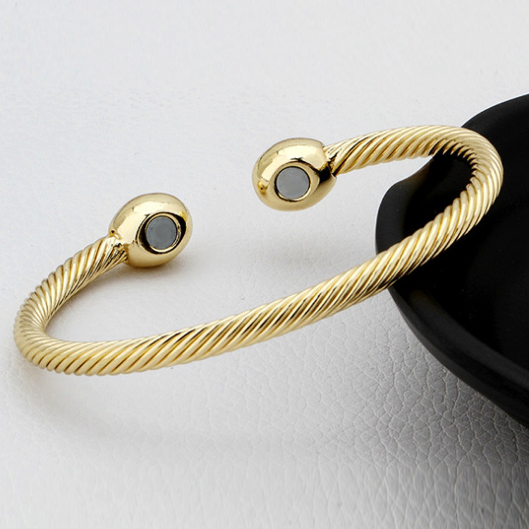 Fashion Jewelry Ball bracelets bangles women jewelry Gold / Rose vintage magnetic health - DAFU JEWELRY store