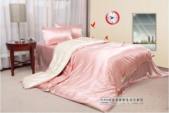 120403   free shipping Silk 4pcs bedding set /   200*200cm /180*200cm/