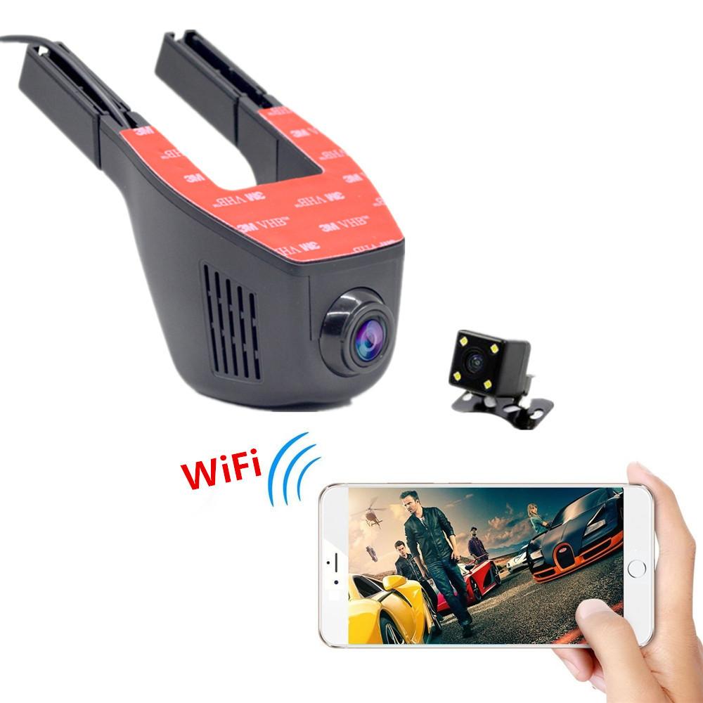 Promotions Wifi Car Camera Video Recorder Mini Car DVR Full HD 1080P Dual Camera Dash Cam Vehicle Registrator Car Black Box(China (Mainland))