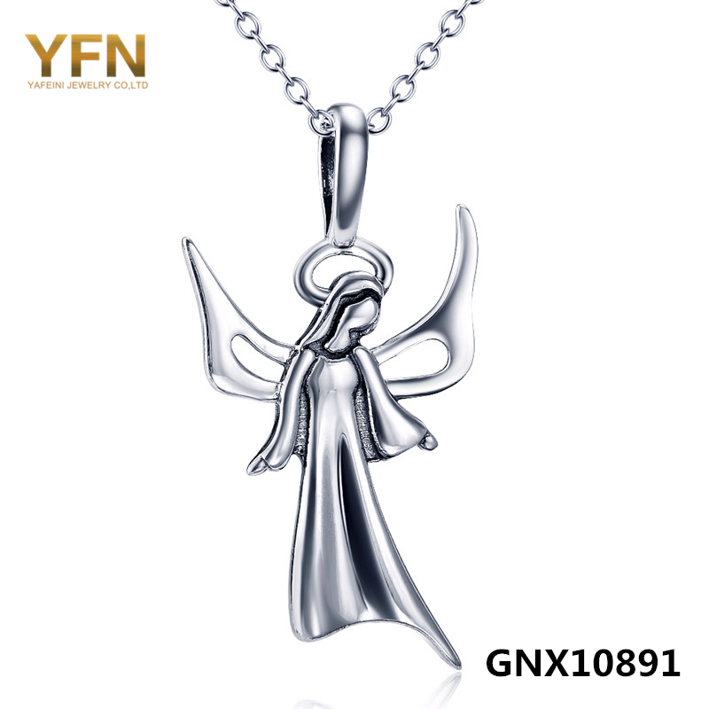GNX10891 The Holy Saint Maria Jewelry 925 Sterling Silver Necklace Fashion Jewelry Necklaces &amp; Pendants For Women and Men<br><br>Aliexpress