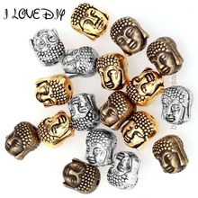 Wholesale Factory Price 20Pcs Metal Silver Buddha Beads Gold Tibetan Silver Spacer Beads for Bracelet Jewelry