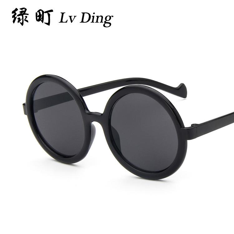 2016 classic round box 1010 popular logo fashion sunglasses sunglasses dazzle colour glance mercury fashion sunglasses(China (Mainland))