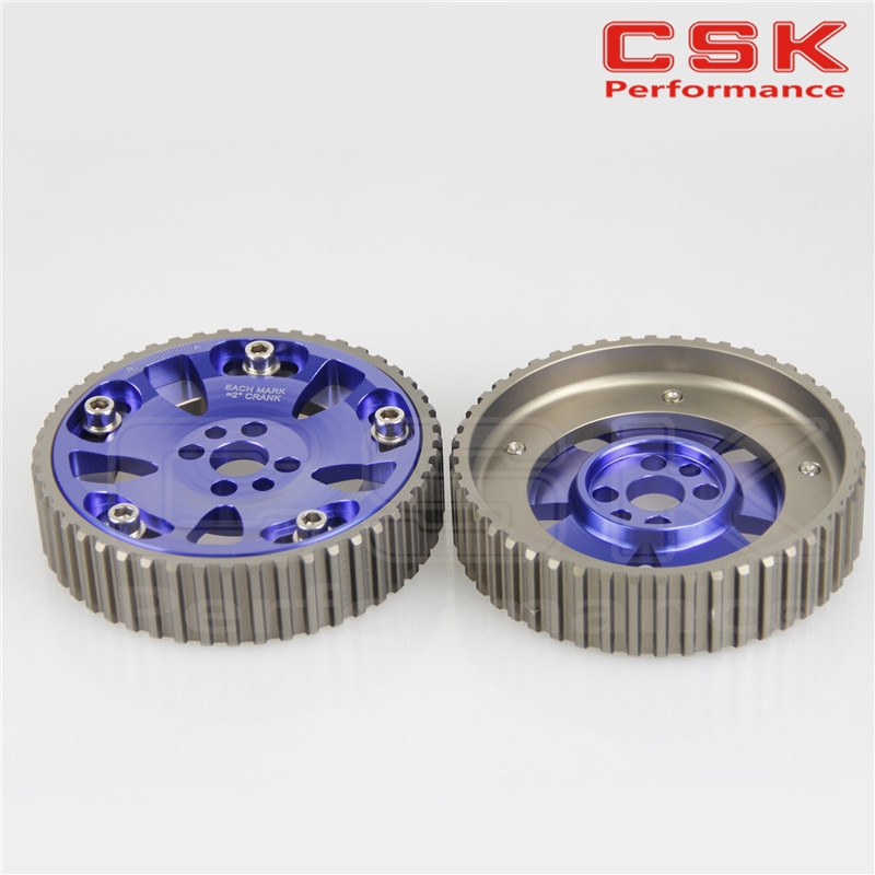 CAM GEARS PULLEY KIT for SKYLINE RB20 RB25 RB26 R32 R33 R34 BLUE 2pcs(China (Mainland))