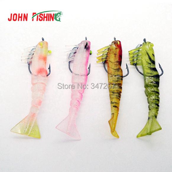 Приманка для рыбалки John Fishing 4 X Prawm Peche 9 /10g Pesca Soft Bait