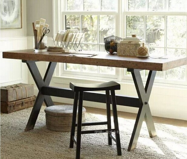 Nordic American Country Wood Dining Table Retro Nostalgia Bar Coffee Table Desk Table Desk Long