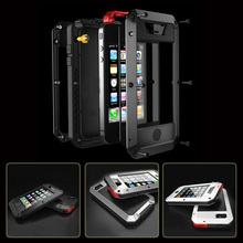2015 New Style Waterproof Shockproof Aluminum Gorilla Glass Metal Case Cover For Apple iPhone 4 4s 5 5s(China (Mainland))