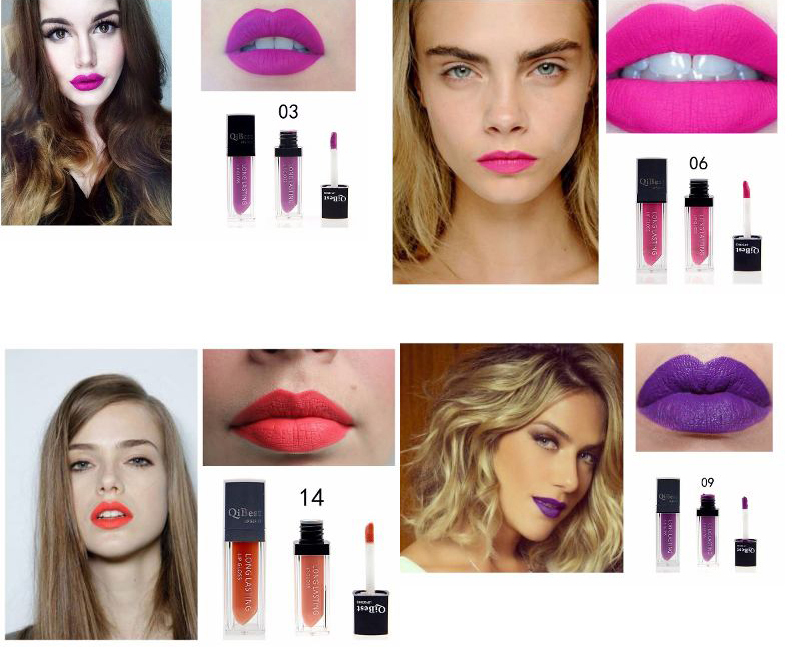 Waterproof Long Lasting lipstick Makeup Matte lip gloss lipgloss sex girl products lip balm Purple Violet