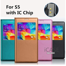Buy Samsung galaxy S5 case Smart Sleep IC Chip View Window Flip Leather Case Samsung Galaxy S5 Battery Housing Cover Case for $3.21 in AliExpress store