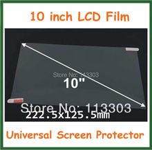 10pcs 10 inch Universal Clear LCD Screen Protector Protective Film for Tablet PC GPS MP4 Size 222.5x125.5mm No Retail Package(China (Mainland))