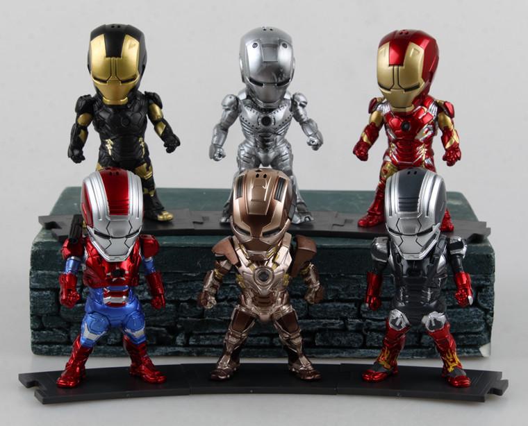 Egg Attack Iron Man Model Prtriot MK42 43 22 24 2 PVC Action Figure Collectible Toy 9CM Ironman Doll 6pcs/set - Tools Factory Store store
