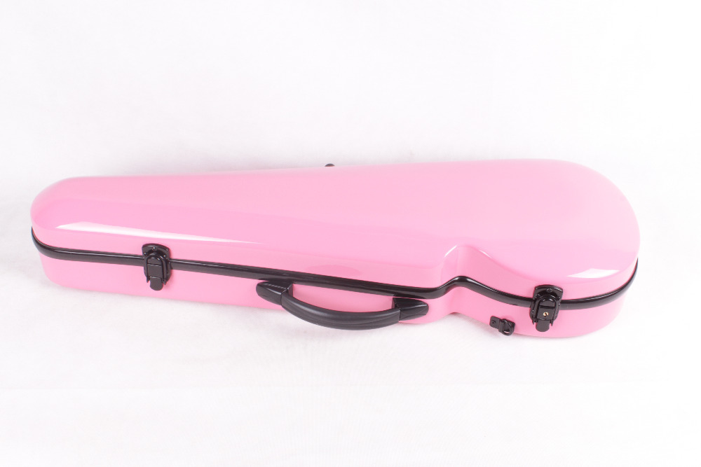 pink    4/4 Violin case Glass Fiber Soft Imitate Leather Pink White Black #GF20<br><br>Aliexpress