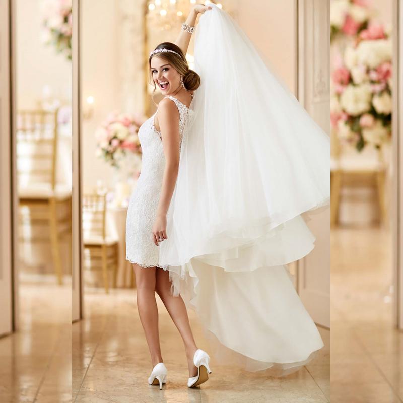 Robe de mariée avec jupe détachable
